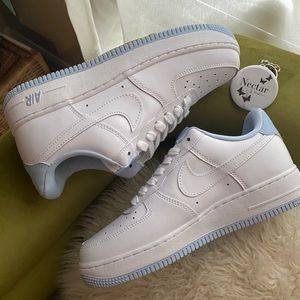 Womens Nike Air Force 1 Low 07 Light Armory Blue